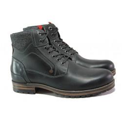 Мъжки боти от естествена кожа с комфортно ходило S.Oliver 5-15220-21 черен | Немски мъжки обувки