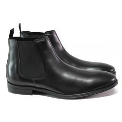 Мъжки боти от естествена кожа и FLEX ходило S.Oliver 5-15300-21 черен | Немски мъжки обувки