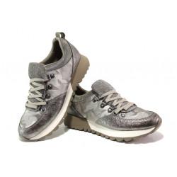 "Модерни дамски маратонки с ""мемори"" пяна S.Oliver 5-23612-21 сив | Немски равни обувки"