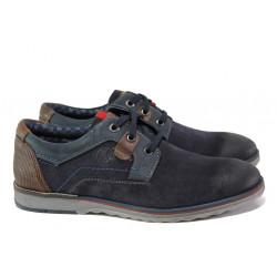 Мъжки обувки от естествен набук S.Oliver 5-13604-31 т.син | Мъжки немски обувки
