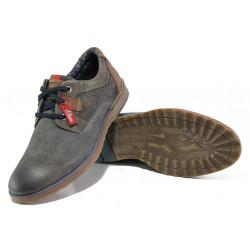 Мъжки обувки от естествен набук S.Oliver 5-13604-31 сив | Мъжки немски обувки