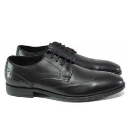 Мъжки обувки от естествена кожа S.Oliver 5-13205-21 черен | Немски мъжки обувки