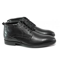 Мъжки боти от естествена кожа S.Oliver 5-15102-21 черен | Немски мъжки обувки