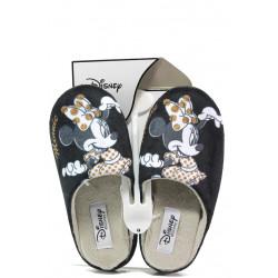 Анатомични дамски чехли с мемори пяна ДФ TORINO W470 черен Disney | Домашни чехли