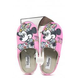 Анатомични дамски чехли с мемори пяна ДФ TORINO W470 розов Disney | Домашни чехли