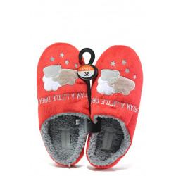 Анатомични дамски чехли РС 182-2 червен | Домашни чехли