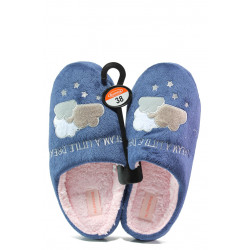 Анатомични дамски чехли РС 182-2 син | Домашни чехли