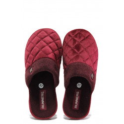 Анатомични дамски чехли РС 182-150136 бордо | Домашни чехли