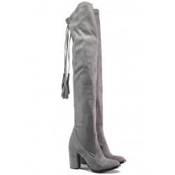 Дамски ботуши тип чизми МИ 65 сив | Дамски ботуши