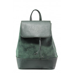 Българска дамска чанта-раница СБ 1220 зелен мейс | Дамска чанта