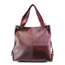 Българска дамска чанта СБ 1247 бордо | Дамска чанта