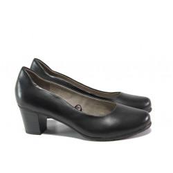 Дамски обувки от естествена кожа за Н крак Jana 8-22404-22 черен | Немски обувки на ток