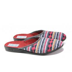 Анатомични дамски чехли с Bio ходило МА 23556 сив-бордо | Домашни чехли