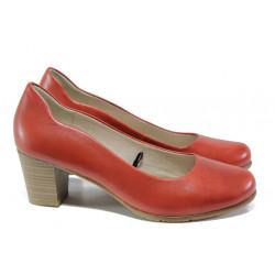 Дамски обувки от естествена кожа за Н крак Jana 8-22404-22 чили | Немски обувки на ток