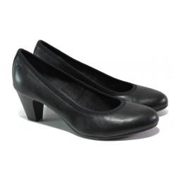 Дамски обувки на среден ток S.Oliver 5-22415-22 черен   Немски обувки на ток