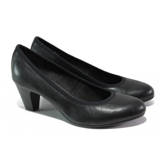 Дамски обувки на среден ток S.Oliver 5-22415-22 черен | Немски обувки на ток