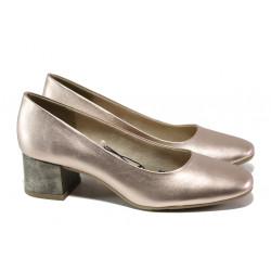 Дамски лачени обувки на среден ток Jana 8-22302-22G розов металик | Немски обувки на ток
