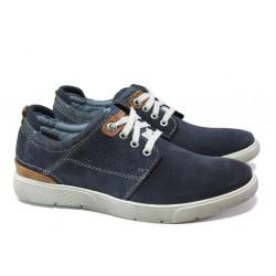 Мъжки спортни обувки от естествен набук S.Oliver 5-13601-22 т.син | Немски мъжки обувки