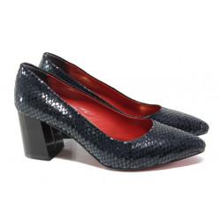 Елегантни дамски обувки ФА 873 син | Дамски обувки на висок ток