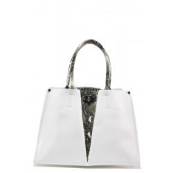 Елегантна дамска чанта ФР 231 бял | Дамска чанта