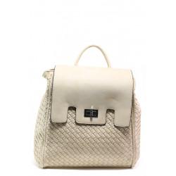 Дамска спортна чанта-раница ФР 1387 бежов | Дамска чанта