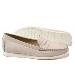 Дамски мокасини от естествена кожа Caprice 9-24251-22G розов | Немски равни обувки