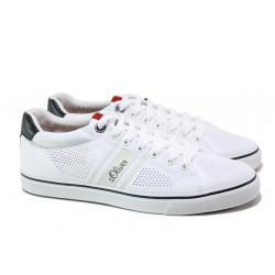 Летни спортни обувки S.Oliver 5-13638-22 бял | Мъжки немски обувки с перфорация