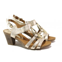 Дамски сандали от естествена кожа Caprice 9-28308-22G злато | Немски сандали на ток