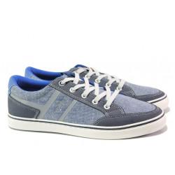 Мъжки летни спортни обувки S.Oliver 5-13628-22 св.син | Мъжки немски обувки