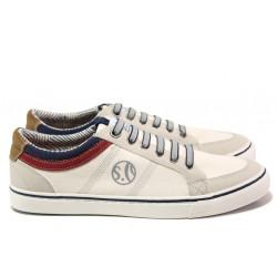 Мъжки летни спортни обувки S.Oliver 5-13616-22 бял | Мъжки немски обувки