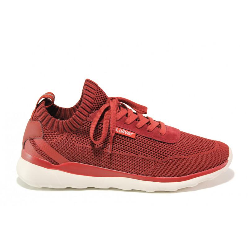 510445cf0e5 Мъжки летни маратонки S.Oliver 5-13642-22 червен | Мъжки немски обувки