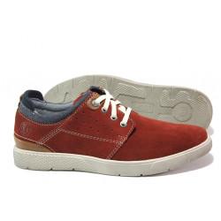 Мъжки спортни обувки от естествен набук S.Oliver 5-13601-22 червен | Немски мъжки обувки