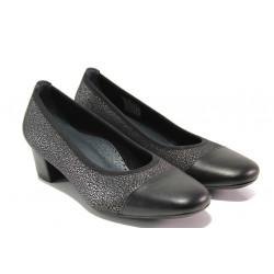 Дамски ортопедични обувки SOFTMODE 7097 черен | Дамски обувки на среден ток