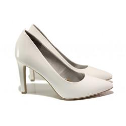 Елегантни лачени обувки Marco Tozzi 2-22415-32 бял лак | Немски обувки на ток