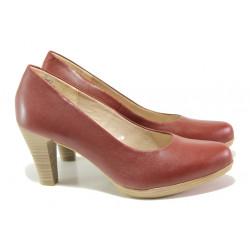 Дамски обувки от естествена кожа Marco Tozzi 2-22408-22 чили | Немски обувки на ток
