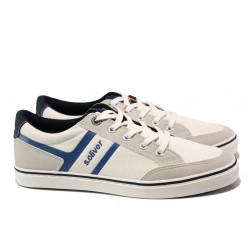 Мъжки летни спортни обувки S.Oliver 5-13628-22 бял | Мъжки немски обувки