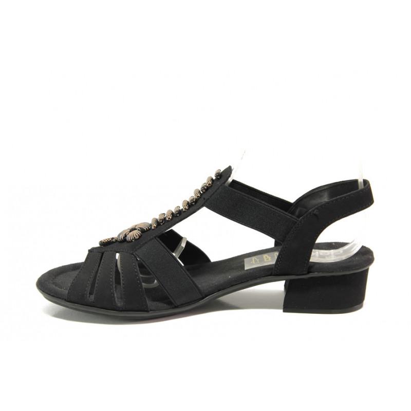 03b1a7620bb Дамски сандали на комфортно ходило Rieker V6206-00 черен ANTISTRESS |  Немски сандали на ток