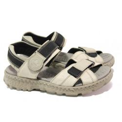 Равни дамски сандали с велкро лепенки Rieker 67853-60 бежов ANTISTRESS | Немски чехли и сандали