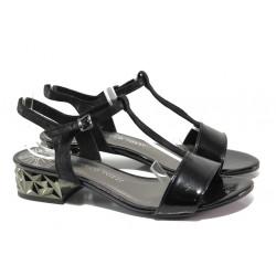 Комфортни дамски сандали Marco Tozzi 2-28209-22 черен | Немски сандали на ток