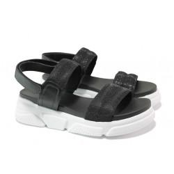 Анатомични дамски сандали S.Oliver 5-28202-22 черен | Немски чехли и сандали