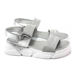 Анатомични дамски сандали S.Oliver 5-28202-22 сребро | Немски чехли и сандали