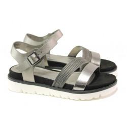 Комфортни дамски сандали S.Oliver 5-28207-22 сив | Немски чехли и сандали