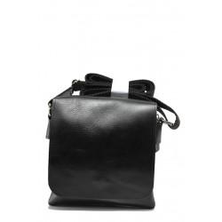 Българска мъжка чанта от естествена кожа КН 3 черен   Мъжка чанта