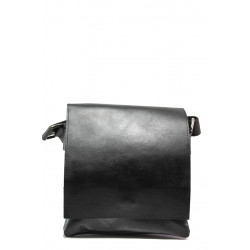 Българска мъжка чанта от естествена кожа КН 2 черен | Мъжка чанта