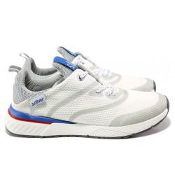 Мъжки летни маратонки S.Oliver 5-13607-22 бял | Мъжки немски обувки