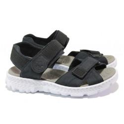 Равни дамски сандали с велкро лепенки Rieker 67853-14 т.син ANTISTRESS | Немски чехли и сандали