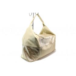 Българска дамска чанта /тип торба/ от естествена кожа КН 1126 злато | Дамска чанта