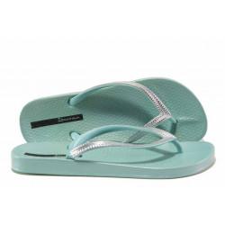 Анатомични дамски чехли Ipanema 82526 зелен-сребро | Бразилски чехли