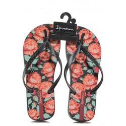 Равни дамски чехли Ipanema 82655 черен | Бразилски чехли