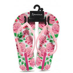 Равни дамски чехли Ipanema 82655 бял-розов | Бразилски чехли